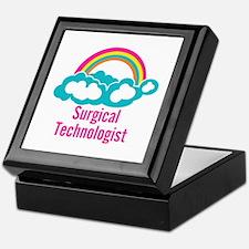 Cloud Rainbow Surgical Technologist Keepsake Box