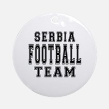 Serbia Football Team Ornament (Round)