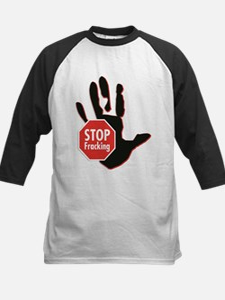 Stop Fracking Hand Baseball Jersey