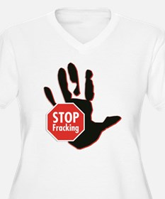 Stop Fracking Hand Plus Size T-Shirt