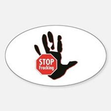 Stop Fracking Hand Bumper Stickers