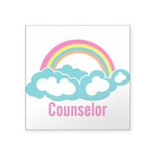 """Cloud Rainbow Counselor Square Sticker 3"""" x 3"""""""