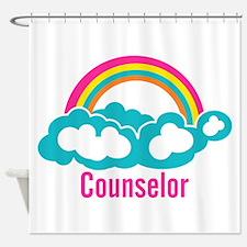 Cloud Rainbow Counselor Shower Curtain