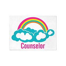Cloud Rainbow Counselor 5'x7'Area Rug
