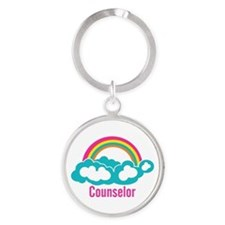 Cloud Rainbow Counselor Round Keychain
