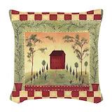 Country primitive Throw Pillows