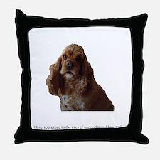 A Dog's Eyes Throw Pillow
