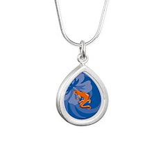 Newt Silver Teardrop Necklace