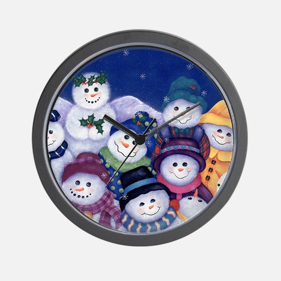 Unique Snowmen Wall Clock