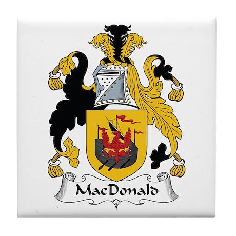 MacDonald (of the Isles) Tile Coaster