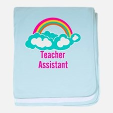 Teacher's Assistant Cloud Rainbow baby blanket