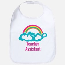 Teacher's Assistant Cloud Rainbow Bib