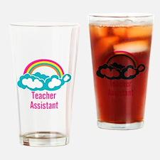 Teacher's Assistant Cloud Rainbow Drinking Glass