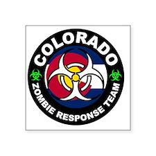 "Colorado Zombie Response Te Square Sticker 3"" x 3"""