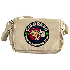Colorado Zombie Response Team White Messenger Bag