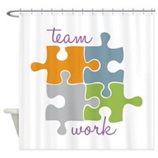 Team Work Shower Curtain