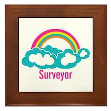 Rainbow Cloud Surveyor Framed Tile
