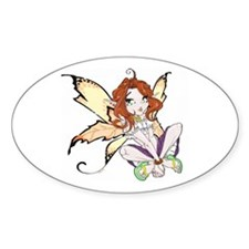 Gypsy Faerie Oval Decal