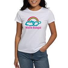 Wildlife Biologist Rainbow Cloud Tee