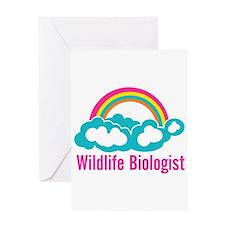 Wildlife Biologist Rainbow Cloud Greeting Card
