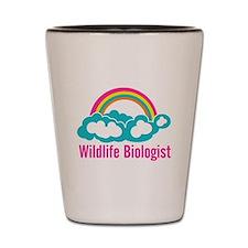 Wildlife Biologist Rainbow Cloud Shot Glass