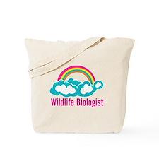 Wildlife Biologist Rainbow Cloud Tote Bag