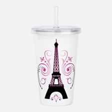 Eiffel Tower Gradient Acrylic Double-Wall Tumbler