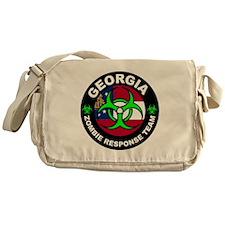 Georgia Zombie Response Team Green Messenger Bag