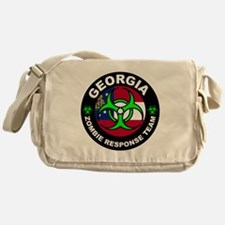 Georgia Zombie Response Team Green Messenger Bag
