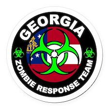 Georgia Zombie Response Team Gree Round Car Magnet