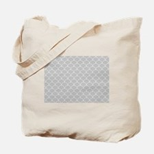 Grey and White Scallop Pattern  Tote Bag