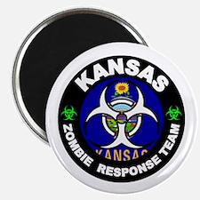 Kansas Zombie Response Team White Magnet