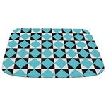 Geometric Checkerboard Bathmat