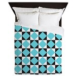 Geometric Checkerboard Queen Duvet