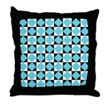 Geometric Checkerboard Throw Pillow
