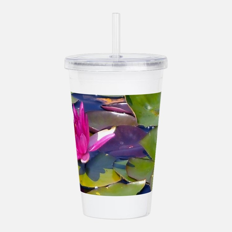 Waterlily Detail Acrylic Double-wall Tumbler