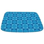 Geometric Blue Checkerboard Bathmat