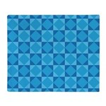Geometric Blue Checkerboard Throw Blanket