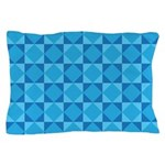 Geometric Blue Checkerboard Pillow Case