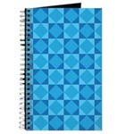 Geometric Blue Checkerboard Journal