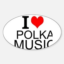 I Love Polka Music Decal
