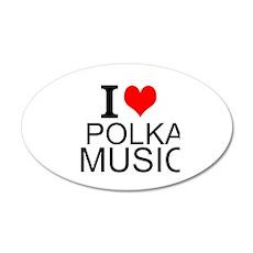 I Love Polka Music Wall Decal