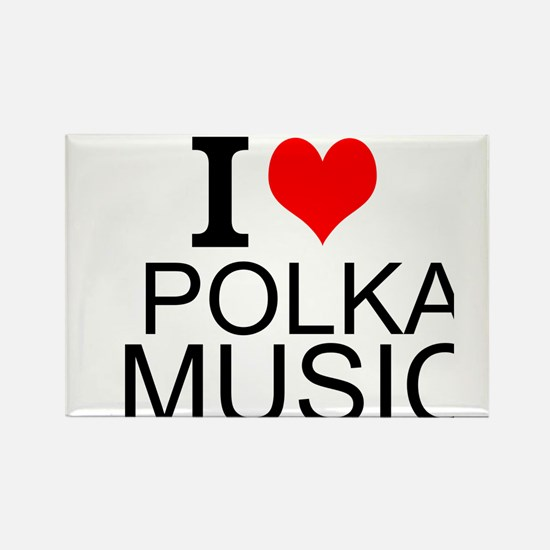 I Love Polka Music Magnets