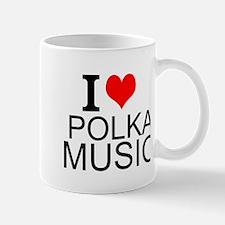 I Love Polka Music Mugs