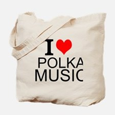 I Love Polka Music Tote Bag
