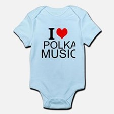 I Love Polka Music Body Suit