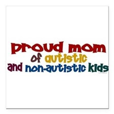 "Cool Autism Square Car Magnet 3"" x 3"""