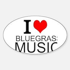 I Love Bluegrass Music Decal