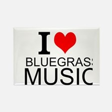 I Love Bluegrass Music Magnets