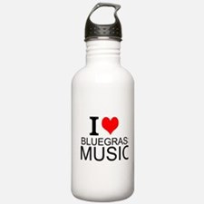 I Love Bluegrass Music Water Bottle